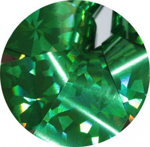 Фольга для литья и кракелюра Royal (35) зеленый голографический ромб